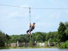Zip Wire, exhilarating cable-lift De Eemhof Zeewolde Center Parcs