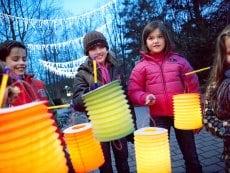 Lantern procession Park Eifel Vulkaneifel Center Parcs