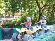 Driving a mini quad Le Lac d'Ailette Laon Center Parcs