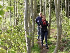 Nordic Walking / wandeltocht Park Bostalsee Sankt Wendel Center Parcs