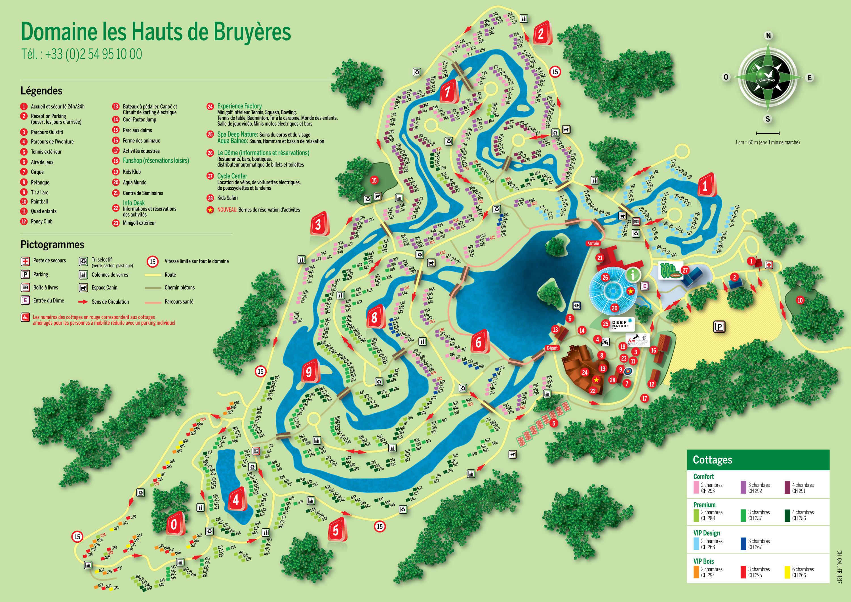 Center Parcs carte » Vacances - Guide Voyage
